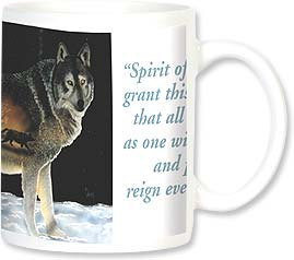 Ceramic Mug - Spirit of the Wolf | D. L. Valdes | 102 | Leanin' Tree