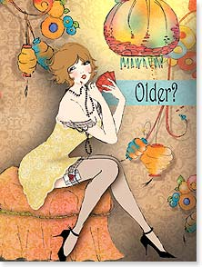 Birthday Card - Older? I think you're bluffing! | Kathleen Francour | 10617 | Leanin' Tree