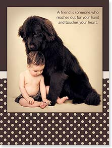 Friendship Card - A friend touches your heart | Rachael McKenna | 10621 | Leanin' Tree
