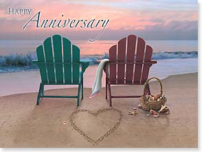 Anniversary Card - Time is measured by cherished memories | Alan Giana | 10632 | Leanin' Tree
