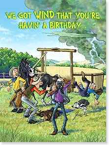 Birthday Card - ...and it looks like a big one! | Ben Crane | 10709 | Leanin' Tree