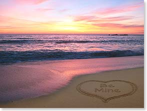 Valentine's Day Card - Here's to sharing sunsets, dreams and endless horizons... | Susan Y. Davis | 10758 | Leanin' Tree