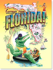 Birthday Card - Snappy Birthday | Florida | Jim Mazzotta | 10811 | Leanin' Tree