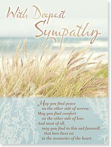Sympathy Card - May you find peace on the other side of sorrow... | Claire Brocato | 10827 | Leanin' Tree