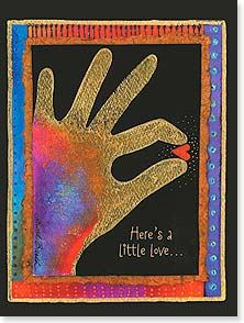 Loving Thoughts Card - Here's a little love...just for you. | Laurel Burch® | 10874 | Leanin' Tree