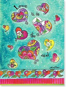 Anniversary Card - Love is in the air! | Laurel Burch® | 10875 | Leanin' Tree