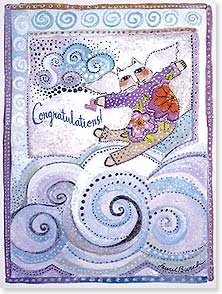Congratulations Card - You must be floating on air! | Laurel Burch® | 10876 | Leanin' Tree