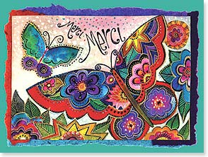 Thank You & Appreciation Card - Merci Merci | Laurel Burch® | 10877 | Leanin' Tree