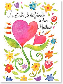 Mother's Day Card - Your the best mother a girl could have! - 10881 | Leanin' Tree
