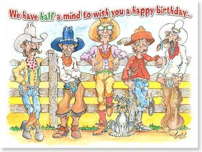 Birthday Card - Half a mind for us constitutes a majority! | Jim Lisk | 10891 | Leanin' Tree