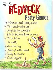 Birthday Card - Redneck Party Games | Crash Cooper | 10892 | Leanin' Tree
