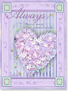 Loving Thoughts Card - A place in my heart that carries you w/ 1 John 3:1 | Gail Marie® | 10953 | Leanin' Tree