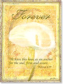 Sympathy Card - God's gentle presence and loving comfort w/ Hebrews 6:19 | Gail Marie® | 10956 | Leanin' Tree