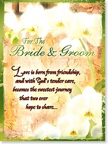 Wedding Card - May God's love bloom in your marriage | Gail Marie® | 10957 | Leanin' Tree