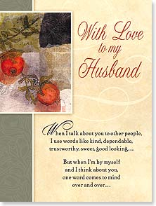 Birthday Card - Husband - I'm so lucky to be married to my very best friend. | Lisa Snow Lady | 10960 | Leanin' Tree