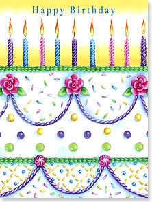 Birthday Card - No cake unfrosted, no joy unlived, and no wish unwished! | Janet Amendola | 10968 | Leanin' Tree
