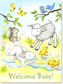 Baby Congratulations Card - Aren't you just the cutest thing on Earth? | Beth Logan | 10974 | Leanin' Tree