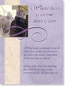 Sympathy Card - May love-filled memories bring you peace and comfort. | Lisa Snow Lady | 10980 | Leanin' Tree