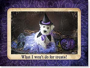 Halloween Card - Hope your Halloween in just the sweetest! | Lisa Jane | 10988 | Leanin' Tree
