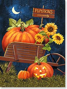 Halloween Card - A warm and friendly Halloween hello! | Tom Wood | 10989 | Leanin' Tree