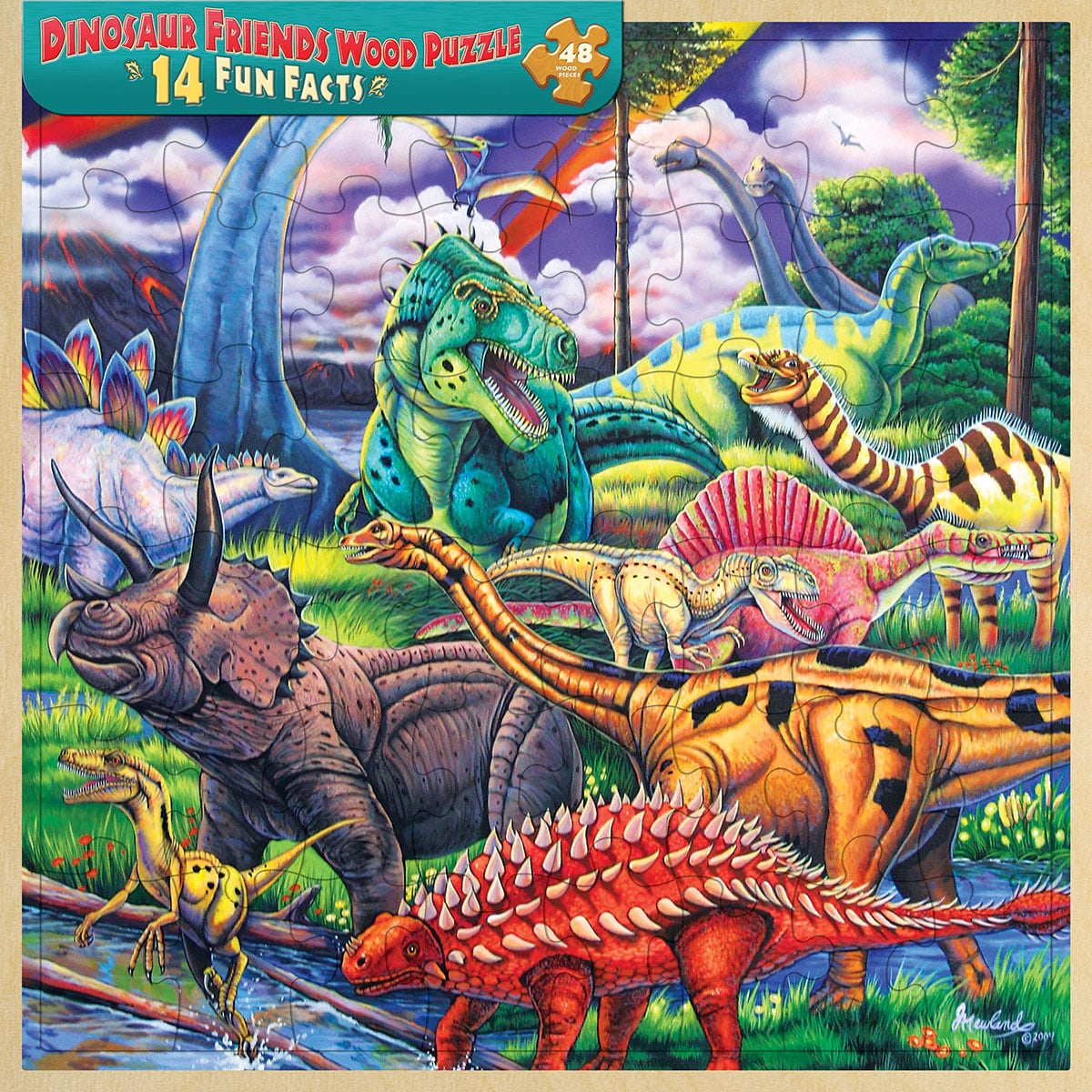 Puzzle - Dinosaur Friends Wood Tray Puzzle - 110174 | Leanin' Tree
