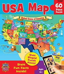 Puzzle - USA Map Floor Puzzle - 112074 | Leanin' Tree