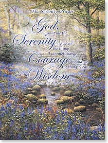 Encouragement & Support Card - The Serenity Prayer w/ Psalm 2:12 | Bill Makinson | 11429 | Leanin' Tree