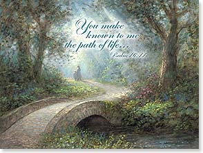 Encouragement & Support Card - Praying and walking with you every step w/ Psalm 16:11 | Jon McNaughton | 11430 | Leanin' Tree