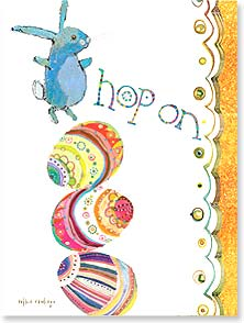 Easter Card - ...and get your happy on! | Robbin Rawlings | 11710 | Leanin' Tree