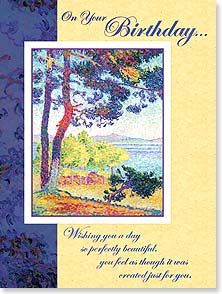 Birthday Card - Wishing you a day created just for you. | Henri-Edmond Cross | 11756 | Leanin' Tree
