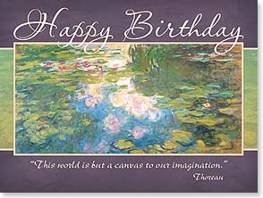 Birthday Card - All the joy you can imagine, and more w/ Thoreau Quote | Claude Monet | 11759 | Leanin' Tree