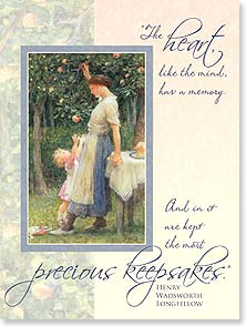 Mother's Day Card - A day as beautiful as the memories you have given me. | Sir Frank Dicksee | 11766 | Leanin' Tree