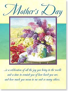 Mother's Day Card - May your feel truly honored and celebrated today! | Fabrice de Villeneuve Studio | 11767 | Leanin' Tree