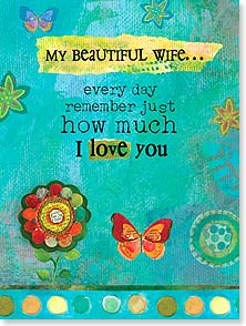 Mother's Day Card - I am the luckiest man in the world. | Sue Zipkin | 11768 | Leanin' Tree