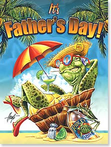 Father's Day Card - Hope you're feeling turtlelly relaxed! | Jim Mazzotta | 11833 | Leanin' Tree