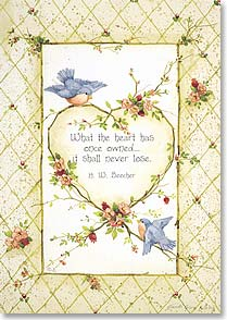 Sympathy Card - May you find comfort in loving memories w/ H W Beecher. | Sandi Gore Evans | 12249 | Leanin' Tree