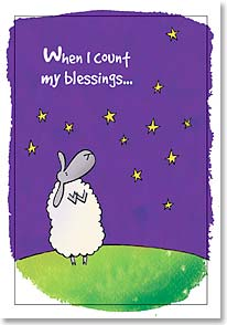 Friendship Card - I always count ewe twice! | Cow Pie Studios | 12725 | Leanin' Tree