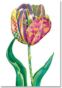 Blank Card - Whimsical Tulip | Bambi Papais | 12761 | Leanin' Tree