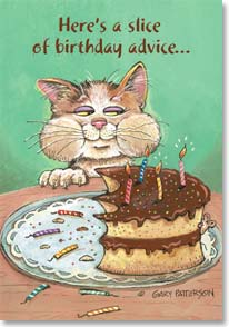 Birthday Card - Funny | A Slice of Birthday Advice | Gary Patterson | 12957 | Leanin' Tree