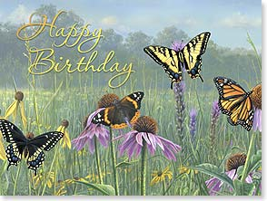 Birthday Card - Wishes For A Day Filled With Joy | James Hautman | 13104 | Leanin' Tree