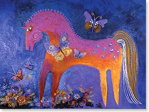 Birthday Card - May your day be filled with beauty and magical moments. | Laurel Burch® | 13239 | Leanin' Tree