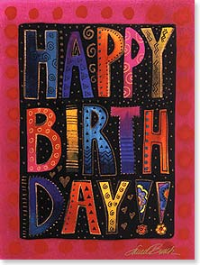 Birthday Card - Wonderful Happy Birthday | Laurel Burch® | 13241 | Leanin' Tree