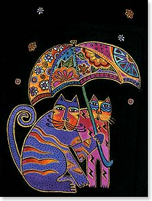 Loving Thoughts Card - It's Not About Avoiding The Rain | Laurel Burch® | 13249 | Leanin' Tree