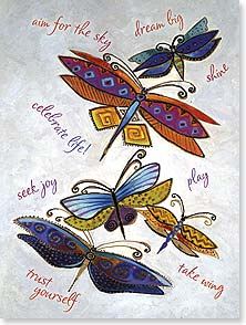 Motivation & Inspiration Card - Show all your true colors | Laurel Burch® | 13256 | Leanin' Tree