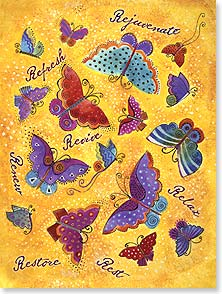 Feel Better Card - Sending healing thoughts with hopes you're feeling better | Laurel Burch® | 13257 | Leanin' Tree