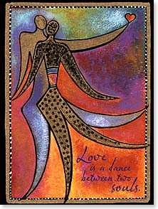 Love & Romance Card - Love is a dance between two souls. | Laurel Burch® | 13259 | Leanin' Tree