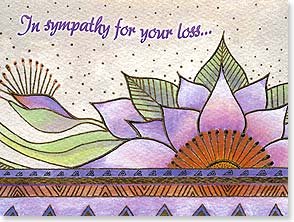 Sympathy Card - ...and in celebration of a cherished soul. | Laurel Burch® | 13260 | Leanin' Tree