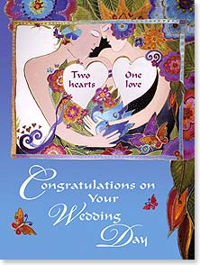 Wedding Card - Wishing you one wonderful life together. | Laurel Burch® | 13261 | Leanin' Tree