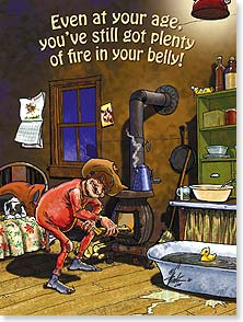 Birthday Card - Plenty Of Fire In Your Belly - 13281 | Leanin' Tree