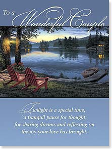 Anniversary Card - To A Wonderful Couple | Darrell Bush | 13291 | Leanin' Tree